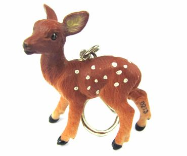 Deer Bambi Key Ring Miniblings Pendant Key Ring Forest Deer Brown