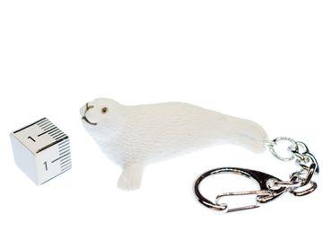 Robbe Heuler Schlüsselanhänger Miniblings Anhänger Schlüsselring Seerobbe weiß – Bild 2