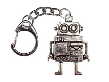 Robot Key Ring Miniblings Pendant Key Ring Steampunk XL Silver – Bild 3