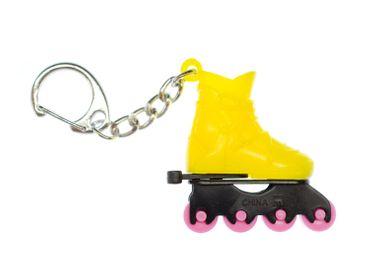 Rollerblades Rollschuhe Inlineskates Schlüsselanhänger Miniblings Anhänger gelb – Bild 1