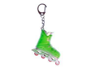 Roller skates Rollschuhe Inlineskates Schlüsselanhänger Miniblings Anhänger grün – Bild 1