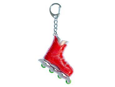 Rollerblades Rollschuhe Inlineskates Schlüsselanhänger Miniblings Anhänger rot – Bild 2
