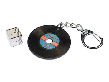 Record Key Ring Miniblings Pendant Key Ring DJ Music Black – Bild 2