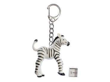 Zebra Key Ring Miniblings Pendant Key Ring Zoo Zebra Child Baby – Bild 2