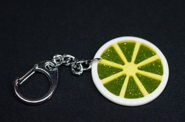 Lemon Slice Lemon Key Ring Miniblings Pendant Key Ring Yellow – Bild 1