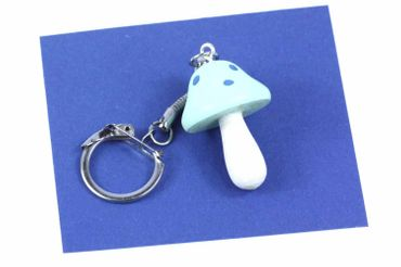 Fly Agaric Toadstool Key Ring Mushroom Pendant Pendant Miniblings Light Blue – Bild 1