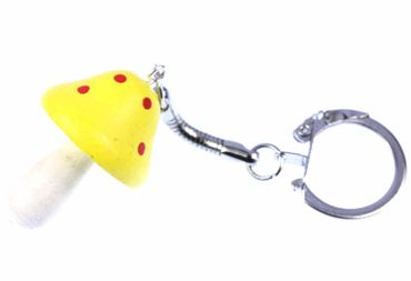 Fly Agaric Toadstool Key NecklaceKey Ring Mushroom Pendant Pendant Miniblings Yellow