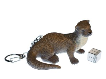 Otter Key Chain Key Ring Miniblings Sea Otters Rubber Pendants animal XL – Bild 1