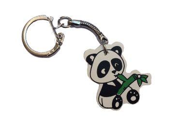 Pandabär Schlüsselanhänger Miniblings Schlüsselring Anhänger Holz Panda Bär