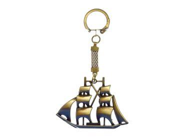 Schiff Segelschiff Boot Piratenschiff Schlüsselanhänger Miniblings Bronze 7cm – Bild 1