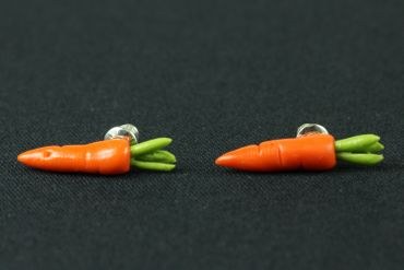 Carrot Carrot Beet Earrrings Ear Studs Earstuds Miniblings Vegetables 3D Carrots 25mm – Bild 2