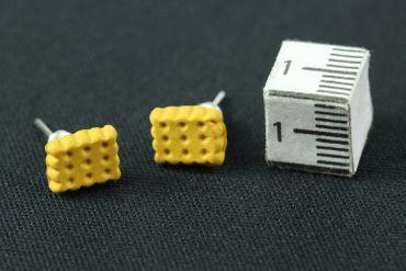 Biscuit Shortbread Earrrings Ear Studs Earstuds Miniblings Christmas Cookie 7mm – Bild 3