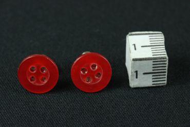 Knopf Ohrstecker Miniblings Stecker Ohrringe Knöpfe Schneider Nähen DIY rot – Bild 3