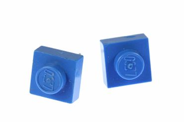 Lego Earrrings Ear Studs Earstuds Miniblings Play Games Upcycling Blue Square – Bild 1