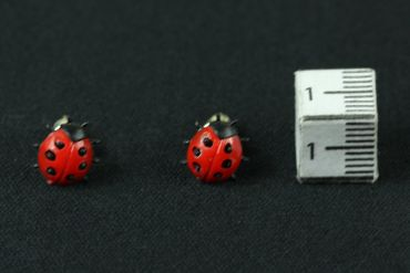 Ladybug Earrrings Ear Studs Earstuds Miniblings Beetle Easter Children Legs – Bild 3