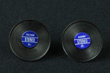 Record Earrrings Ear Studs Earstuds Miniblings Dj Music Vinyl Lp Band Star Blue  – Bild 2