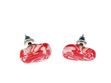 Bacon Ham Ear Studs HANDMADE Earstuds Miniblings Earring Butcher Meat Food Fastfood Breakfast Earrrings – Bild 1