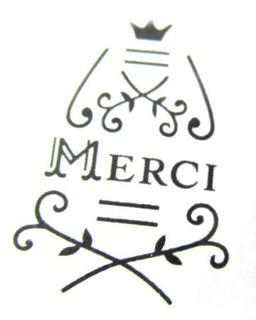 Stamp Merci 4X3cm In Iron Miniblings Stamp Stamps Wood Scrapbook Scrapbooking – Bild 2