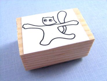 Stamp Scrapbook Scrapbooking Kids Children Kalle Fux Cat Cat Kitten Wooden Handmade 3 5X2cm – Bild 3