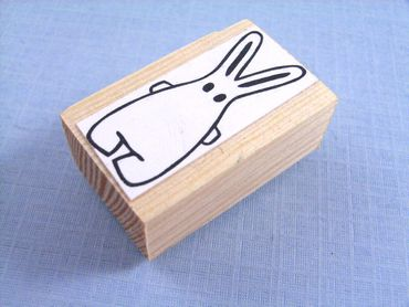 Stamp Scrapbook Scrapbooking Kids Children Kalle Fux Rabbit Easter Bunny Handmade 2.5cm – Bild 4