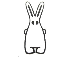 Stamp Scrapbook Scrapbooking Kids Children Kalle Fux Rabbit Easter Bunny Handmade 3.5cm – Bild 4