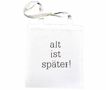 Cotton Carrier Bag Jute Bag Shopper Miniblings Alt Ist Später Different Colours – Bild 4
