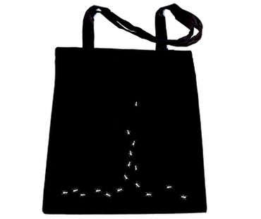 Cotton Carrier Bag Jute Bag Shopper Miniblings Ants Path Of Ants – Bild 1
