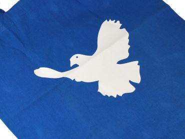 Cotton Carrier Bag Jute Bag Shopper Miniblings Peace Dove Pidgeon Bird Different Colours – Bild 3
