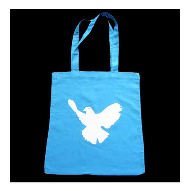 Cotton Carrier Bag Jute Bag Shopper Miniblings Peace Dove Pidgeon Bird Different Colours – Bild 2