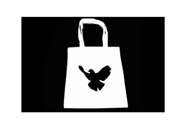 Cotton Carrier Bag Jute Bag Shopper Miniblings Peace Dove Pidgeon Bird Different Colours – Bild 6