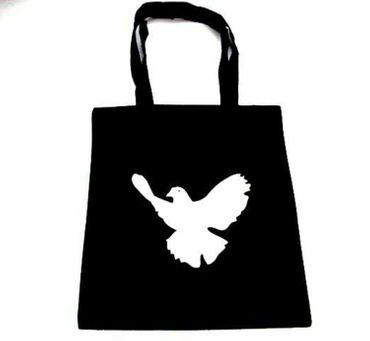 Cotton Carrier Bag Jute Bag Shopper Miniblings Peace Dove Pidgeon Bird Different Colours – Bild 1