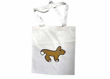 Cotton Carrier Bag Jute Bag Shopper Miniblings Dog Fox Children – Bild 1