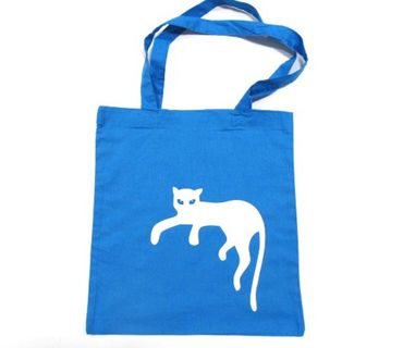 Cotton Carrier Bag Jute Bag Shopper Miniblings Cat Panther Different Colours – Bild 2