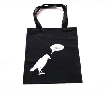 Cotton Carrier Bag Jute Bag Shopper Miniblings Crow Raven Says Flitzpiep Different Colours – Bild 1