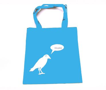 Cotton Carrier Bag Jute Bag Shopper Miniblings Crow Raven Says Flitzpiep Different Colours – Bild 3