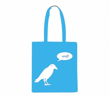 Cotton Carrier Bag Jute Bag Shopper Miniblings Crow Raven Says Wuff Barks Different Colours – Bild 3
