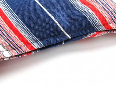 Kissen Dekokissen Miniblings 40x40cm 70er Retro blau silber rot Streifen – Bild 2
