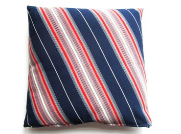 Decorative Cushion Pillow Miniblings 30X30cm 70S Retro Blue Silver Red Stripes – Bild 1