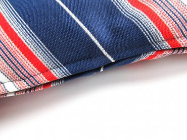 Decorative Cushion Pillow Miniblings 30X30cm 70S Retro Blue Silver Red Stripes – Bild 2