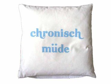 Decorative Cushion Pillow Chronic Tired Pillowcase 40X40cm Miniblings – Bild 3