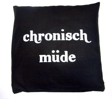 Decorative Cushion Pillow Chronic Tired Pillowcase 40X40cm Miniblings – Bild 1