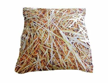 Decorative Cushion Pillow Miniblings 40X40cm Straw Hay Meadow Landhaus Country Horse