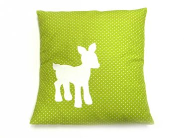 Kissen Kinderkissen Baby Dekokissen Miniblings 25x25cm Reh Bambi Punkte grün – Bild 1