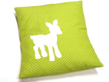 Pillow Children Pillow Baby Child Children Miniblings 25x25cm Deer Bambi Green Dots – Bild 2