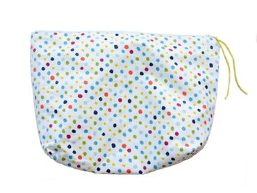 XL Wash Bag Cosmetic Bag Miniblings 30X20cm White Dots Colorful Dots – Bild 7