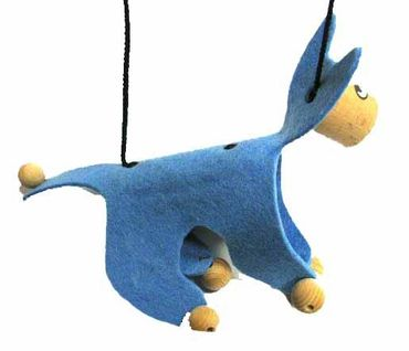 Marionette Puppet Wood Children Felt Kalle Fux Wooden Toys Children Cat Blue – Bild 3