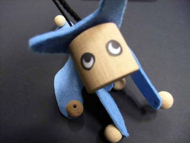 Marionette Puppet Wood Children Felt Kalle Fux Wooden Toys Children Cat Blue – Bild 4