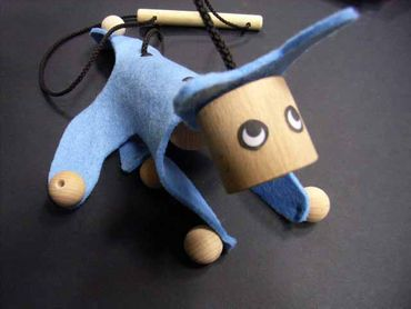 Marionette Puppet Wood Children Felt Kalle Fux Wooden Toys Children Cat Blue – Bild 5
