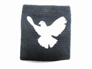 Sweatband Wristband Wrist Warmer + Zipper Pull Purse Miniblings Dove Bird Pidgeon Dark Blue – Bild 2