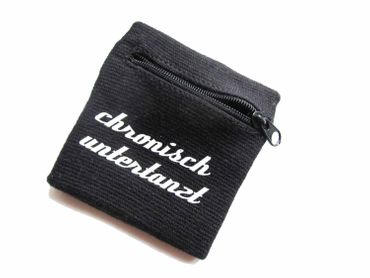 Sweatband Wristband Wrist Warmer Zipper Pull Purse Chronisch Untertanzt German Glack  – Bild 1